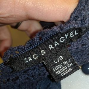 Zac & Rachel Tops - Zac & Rachel Linen and Lace Sheer Blouse